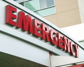 Emergency room sign of a hospital