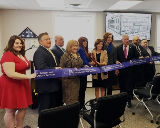 ribbon cutting with Commissioner Arlene Gonzalez-Sanchez and Lt Governor Kathy Hochul
