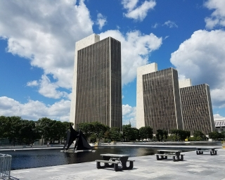 Shot of building from Empire State Plaza