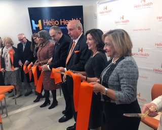 Commissioner AGS and LG Hochul cut the ribbon to open Elements