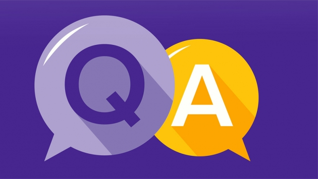 purple-and-yellow-Q&A-stylized